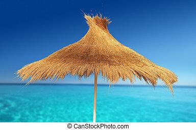 Relax Beach - Relaxing on Tropical Beach under umbrella on...