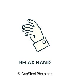 Relax hand vector line icon, linear concept, outline sign, symbol