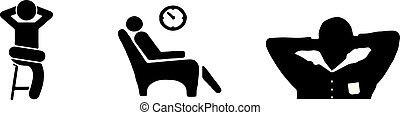 Relax icon vector on white background