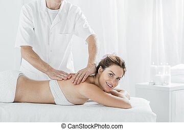 Relax in wellness center