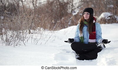 Relax on snow