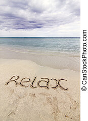 'relax', palavra