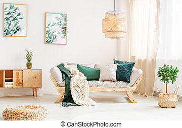 Relax room with pouf
