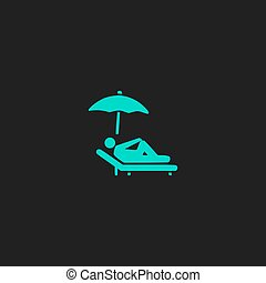 relax under an umbrella on a lounger