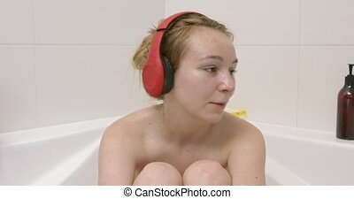 Relax with music in bath