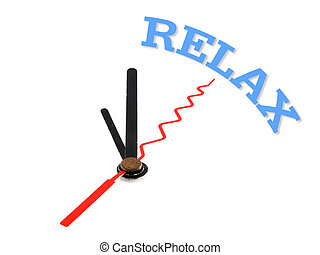 relax  word conceptual