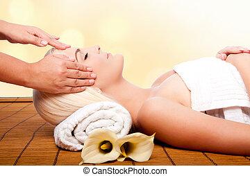 relaxamento, pampering, massagem, spa
