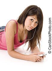 relaxante, com, música, 2