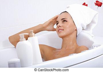 relaxante, em, banho