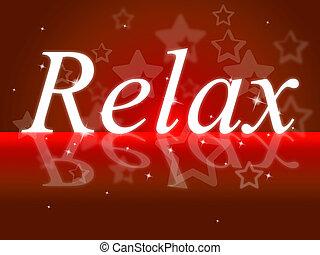 relaxante, relaxe, meios, descanso, partir, tranqüilo