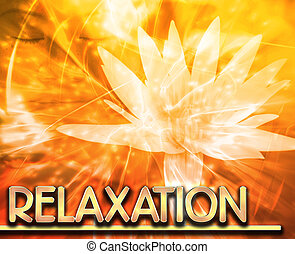 Relaxation Abstract concept digital illustration