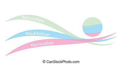 Relaxation concept, abstract graphic illustration