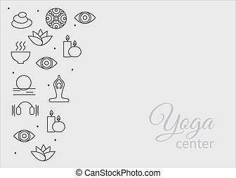set yoga icons