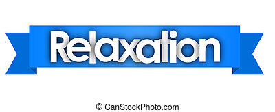 Relaxation in blue ribbon background