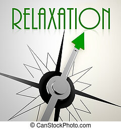 Relaxation on green compass