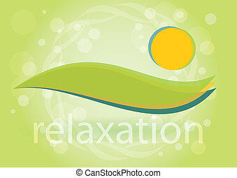 Relaxation - Symbol of harmony, bastract illustration
