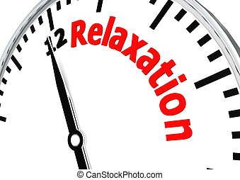 Relaxation time - Rendered artwork with white background