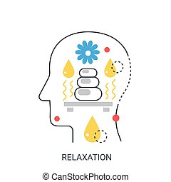 Relaxation vector illustration concept.