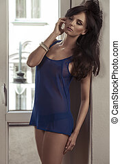 relaxation woman in babydoll