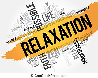 Relaxation word cloud