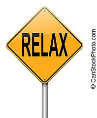 relaxe, concept.