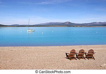 relaxe, em, lago jackson