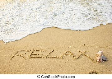 relaxe, palavra