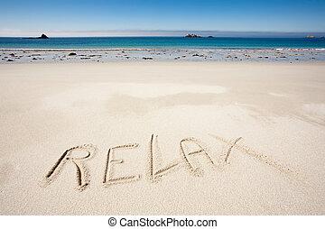 relaxe, praia