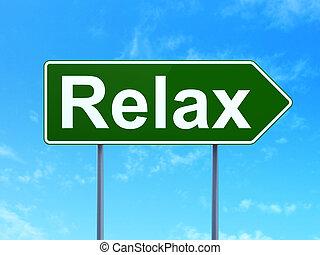 relaxe, sinal, concept:, fundo, turismo, estrada