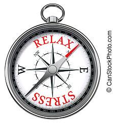 relaxe, tensão, vermelho, palavras, ligado, compasso