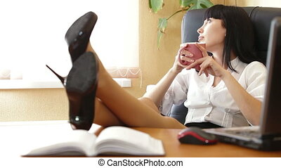 Relaxed Business Woman