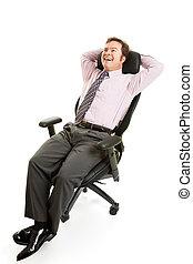 Relaxed Businessman Ergonomics