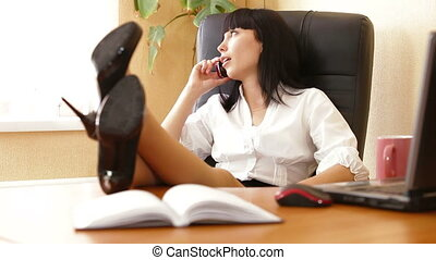 Relaxed Businesswoman