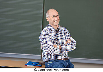 Relaxed friendly male teacher