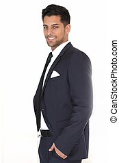 Relaxed successful handsome businessman