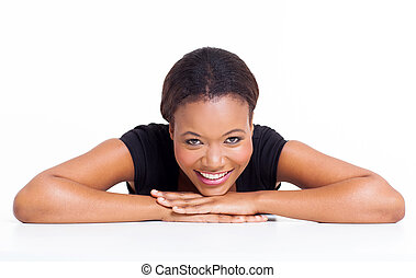 relaxed young african girl