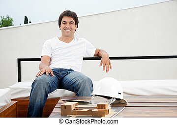 Relaxed Young Male Architect