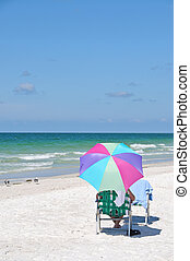 relaxen, aan het strand