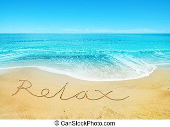 relaxen, strand