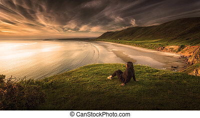 Relaxing at Rhossili