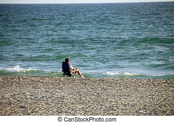 Relaxing at the Beach, West Palm Beach, Florida, January 2007
