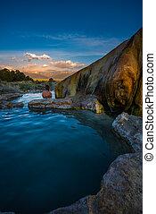 Relaxing bath at Sunrise Travertine Hot Springs Bridgeport ...