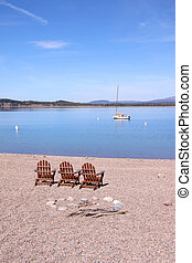 Relaxing chairs at Jackson lake