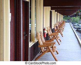 Relaxing chairs in the resort