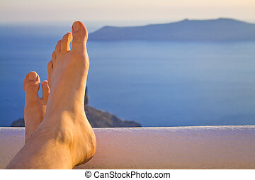 Relaxing Feet by the Sea