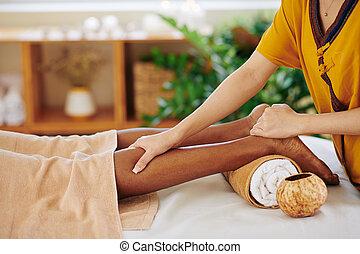 Relaxing leg massage
