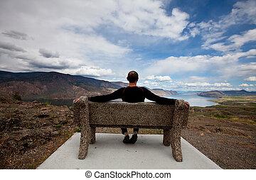 Relaxing man