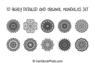 Relaxing Mandalas Set