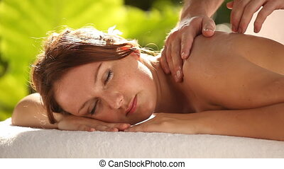 relaxing massage with audio