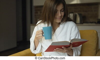 Relaxing Morning with Book and Coffee